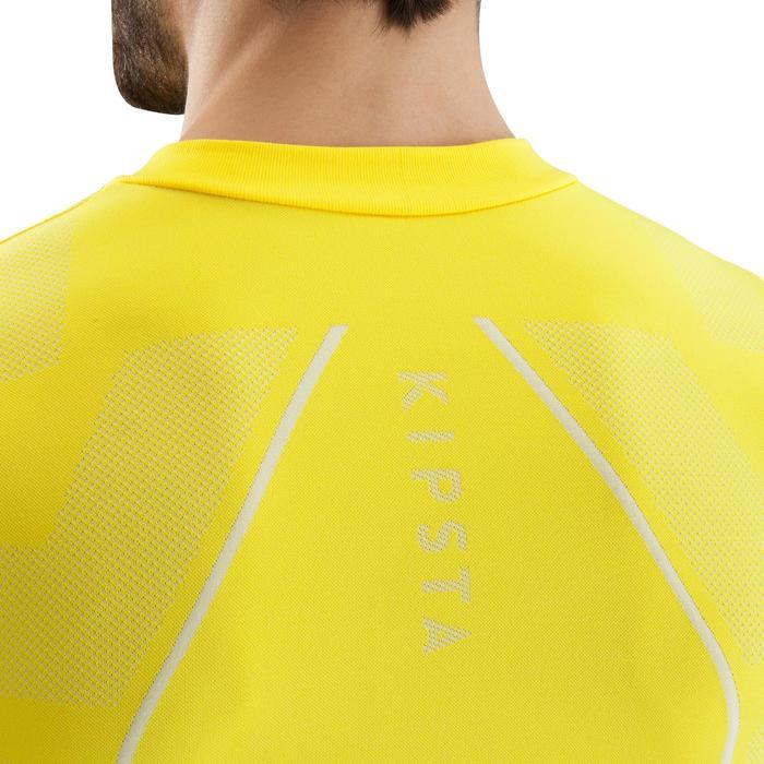 Ademend ondershirt met lange mouwen voor volwassenen Keepdry 500 geel