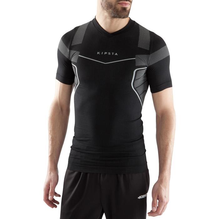 Thermoshirt Keepdry 500 korte mouwen zwart