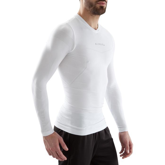 Funktionsshirt langarm Keepdry 500 Erwachsene weiß