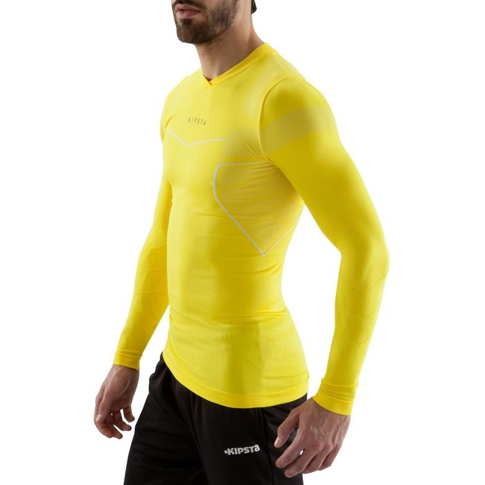 Sous maillot respirant manches longues adulte Keepdry 500 jaune