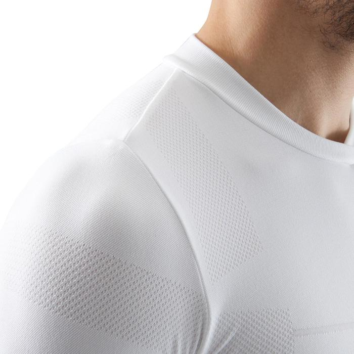 Sous maillot de football manches longues adulte Keepdry 500 blanc