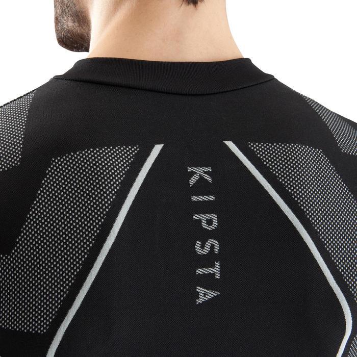 Ademend ondershirt met lange mouwen voor volwassenen Keepdry 500 zwart