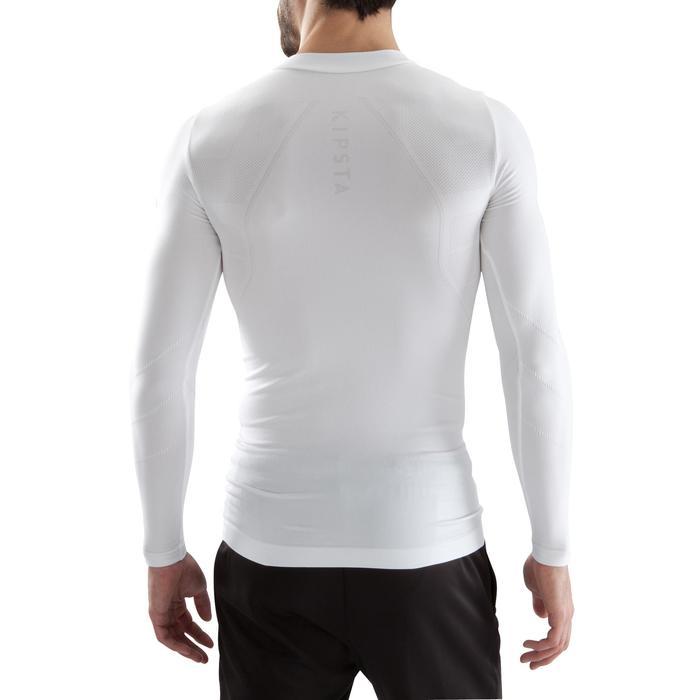 Ondershirt voor voetbal volwassenen Keepdry 500 wit