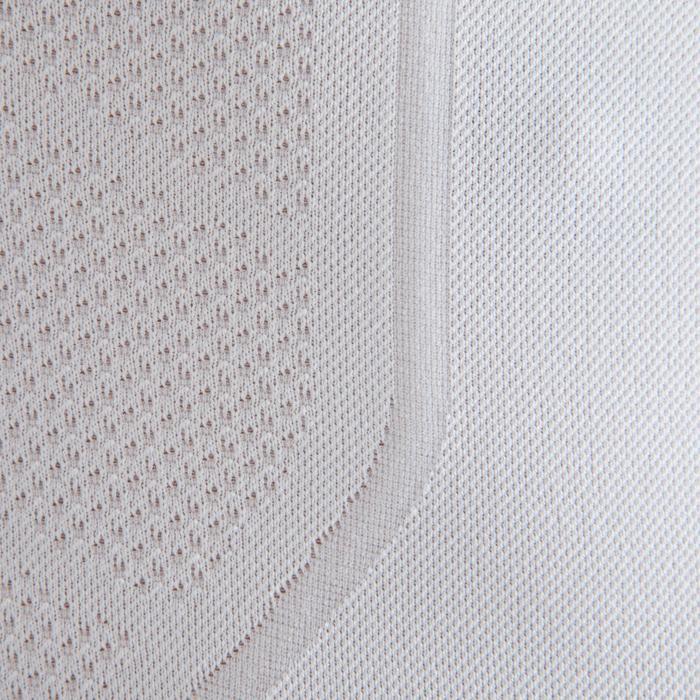Ondershirt voor voetbal lange mouwen volwassenen Keepdry 500 wit