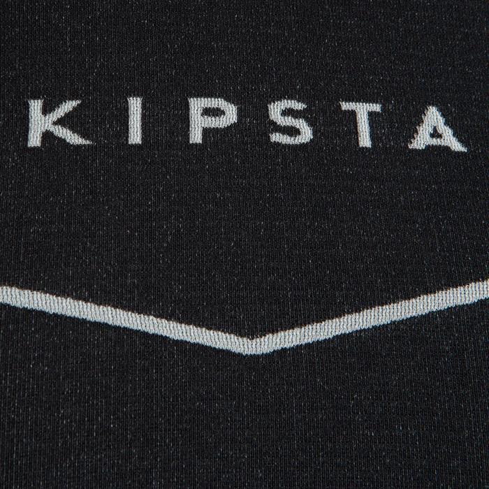 Camiseta Térmica Transpirable Manga Corta Kipsta KDRY500 Hombre Negra