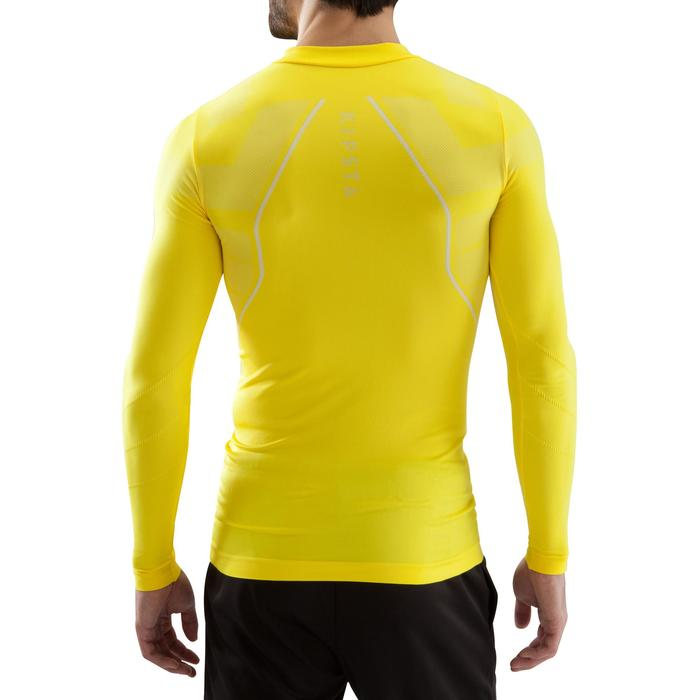 Sous maillot de football manches longues adulte Keepdry 500 jaune