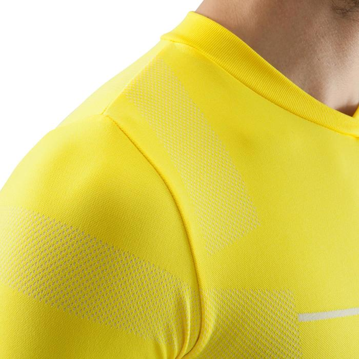 Ondershirt voor voetbal lange mouwen volwassenen Keepdry 500 geel