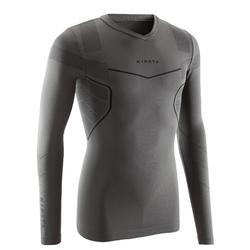 4d86756739 Camiseta térmica transpirable manga larga adulto Keepdry 500 gris oscuro