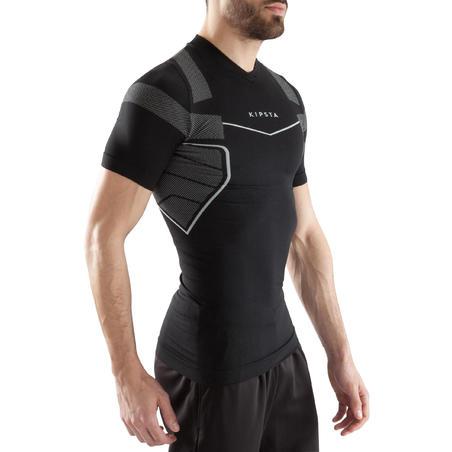Sous-maillot respirant manches courtes adulte 500 noir