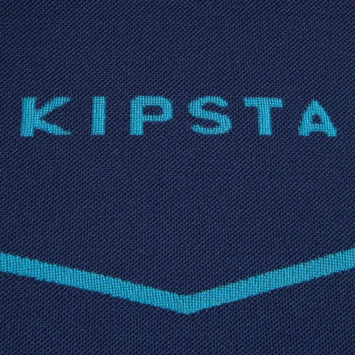 成人款足球長袖底層衣KEEPDRY 500-森綠藍