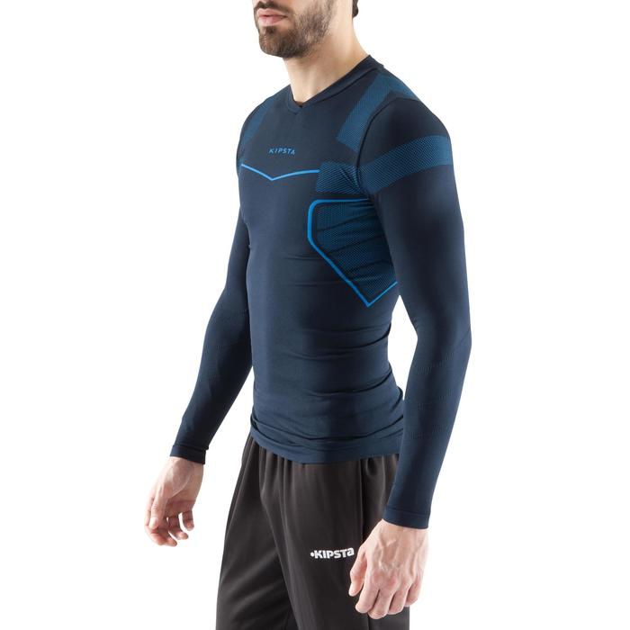 Sous maillot respirant manches longues adulte Keepdry 500 bleu marine