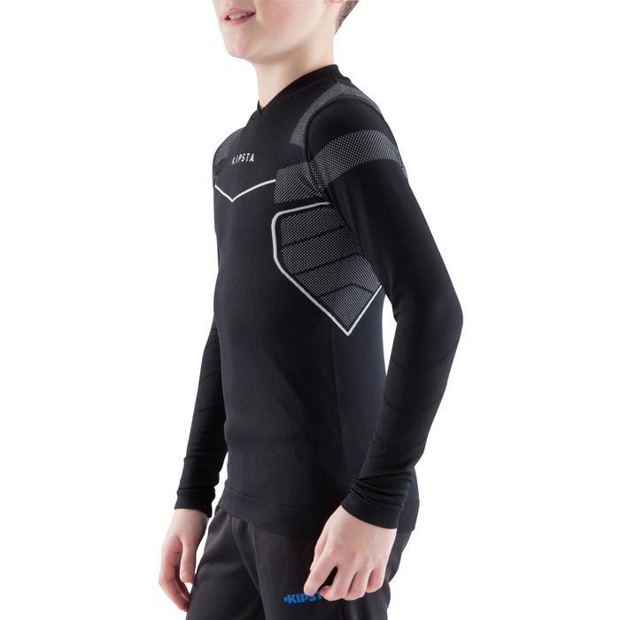 Funktionsshirt langarm Keepdry 500 atmungsaktiv Kinder schwarz