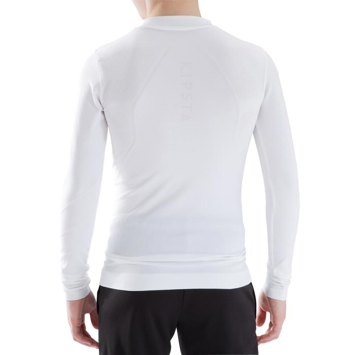 Camiseta Térmica Transpirable Manga Larga Kipsta KDRY500 Blanco