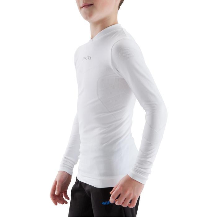 Funktionsshirt langarm Keepdry 500 atmungsaktiv Kinder weiß