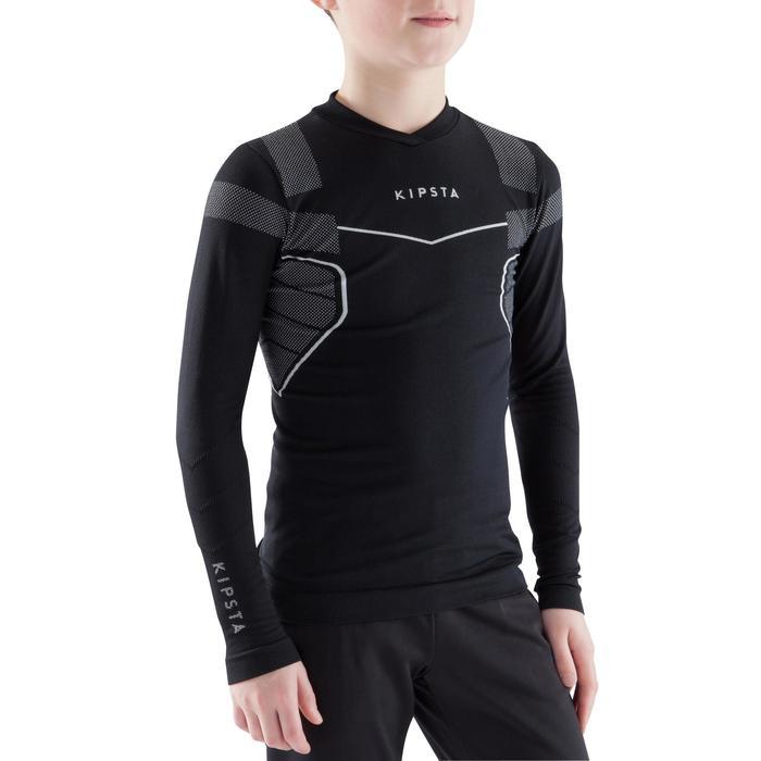 Camiseta térmica transpirable manga larga júnior Keepdry 500 negro