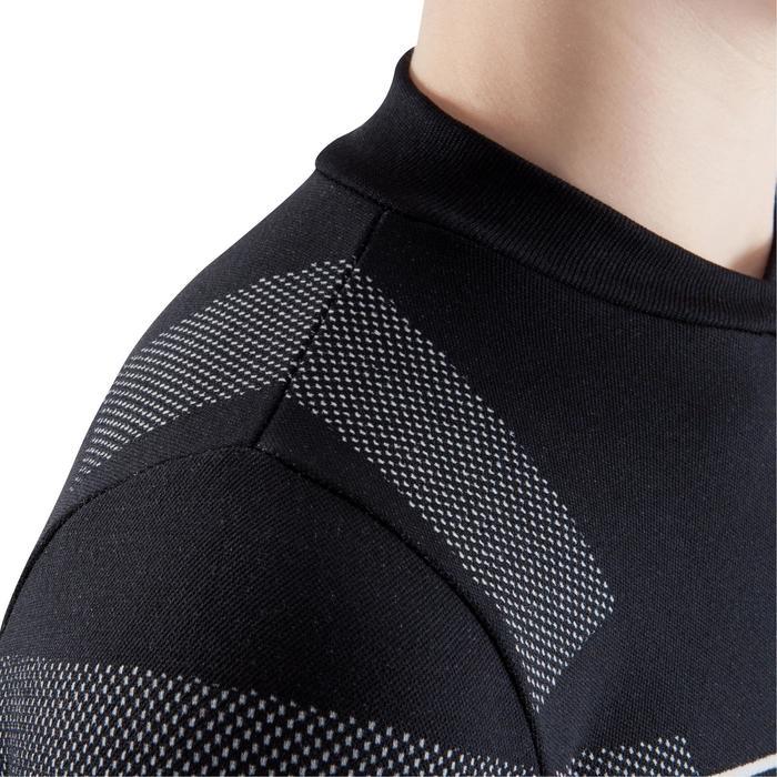 Ondershirt met lange mouwen voetbal voor kinderen Keepdry 500 zwart