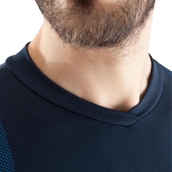 Funktionsshirt langarm Keepdry 500 atmungsaktiv Erwachsene marineblau