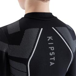 Thermoshirt kind Keepdry 500 met lange mouwen zwart
