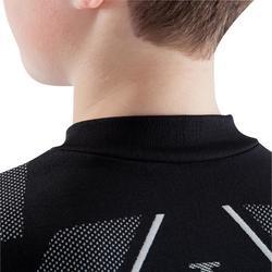 Ondershirt voor voetbal kinderen Keepdry 500 zwart