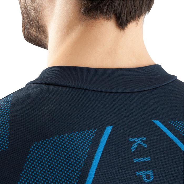 Ademend ondershirt met lange mouwen voor volwassenen Keepdry 500 marineblauw