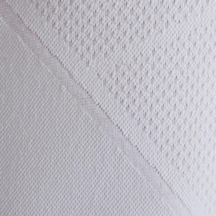 Camiseta térmica de fútbol de manga larga júnior Keepdry 500 blanco