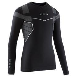 兒童款足球長袖底層衣KEEPDRY 500-黑色