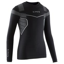 Thermoshirt kind Keepdry 500 met lange mouwen zwart