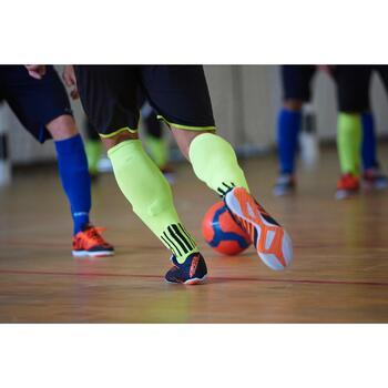 Zaalvoetbalschoenen CLR 300 volwassenen blauw oranje