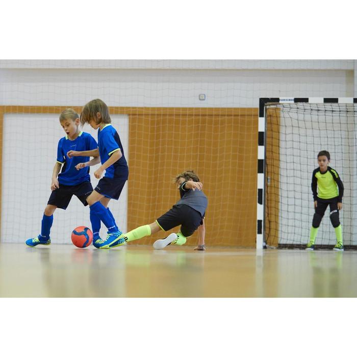 Short de football enfant F500 gris et - 1161231