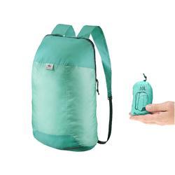 Mochila TRAVEL ultra compacta 10 litros verde claro