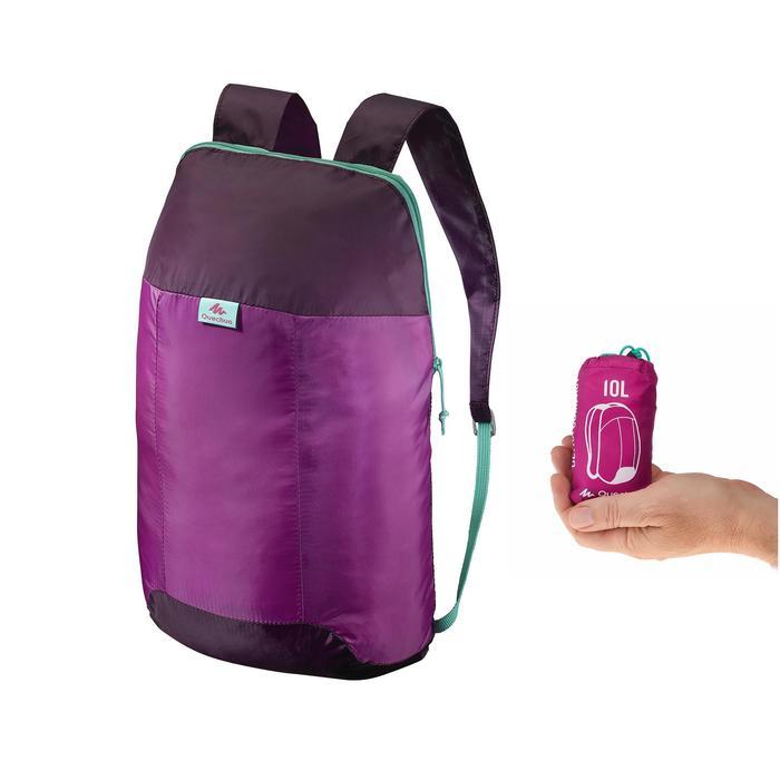 Mochila auxiliar ultra compacta 10 litros Violeta