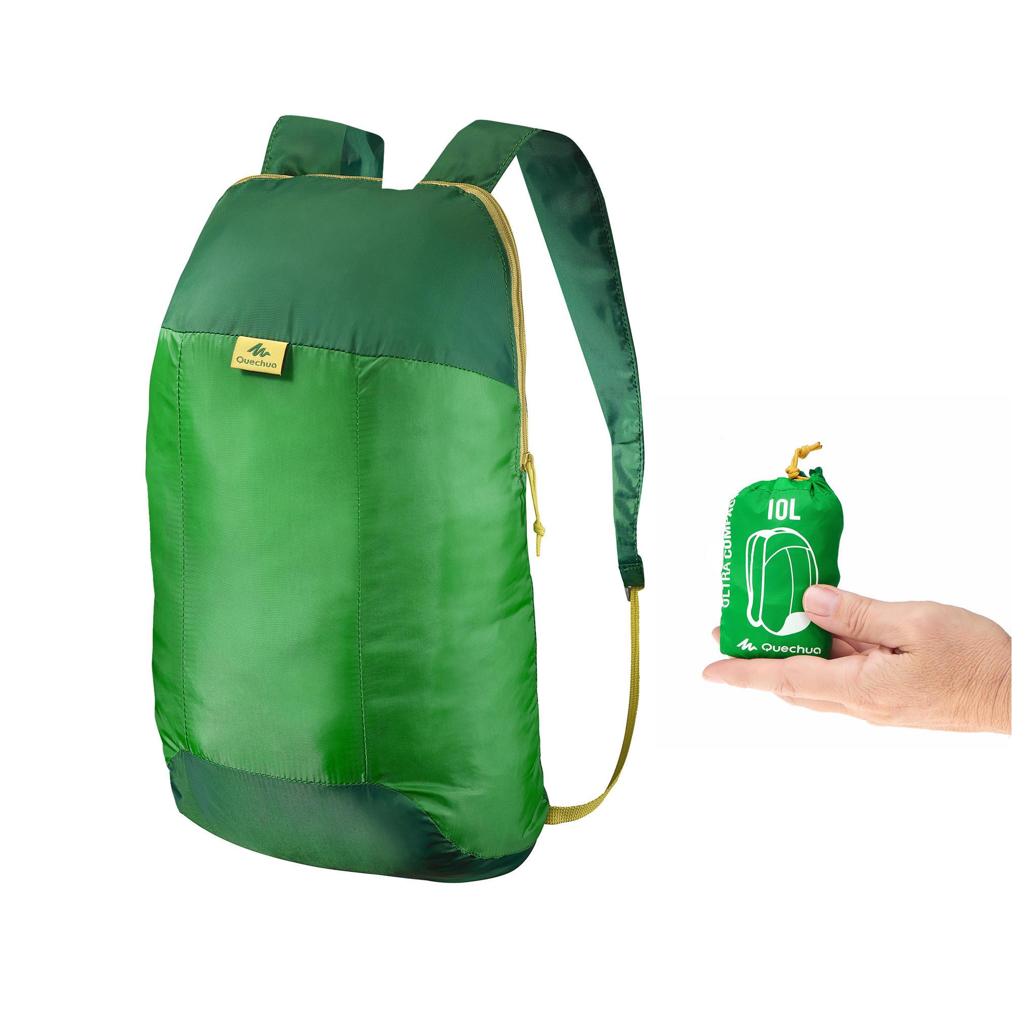 TRAVEL Ultra-Compact 10 Litre Rucksack - green