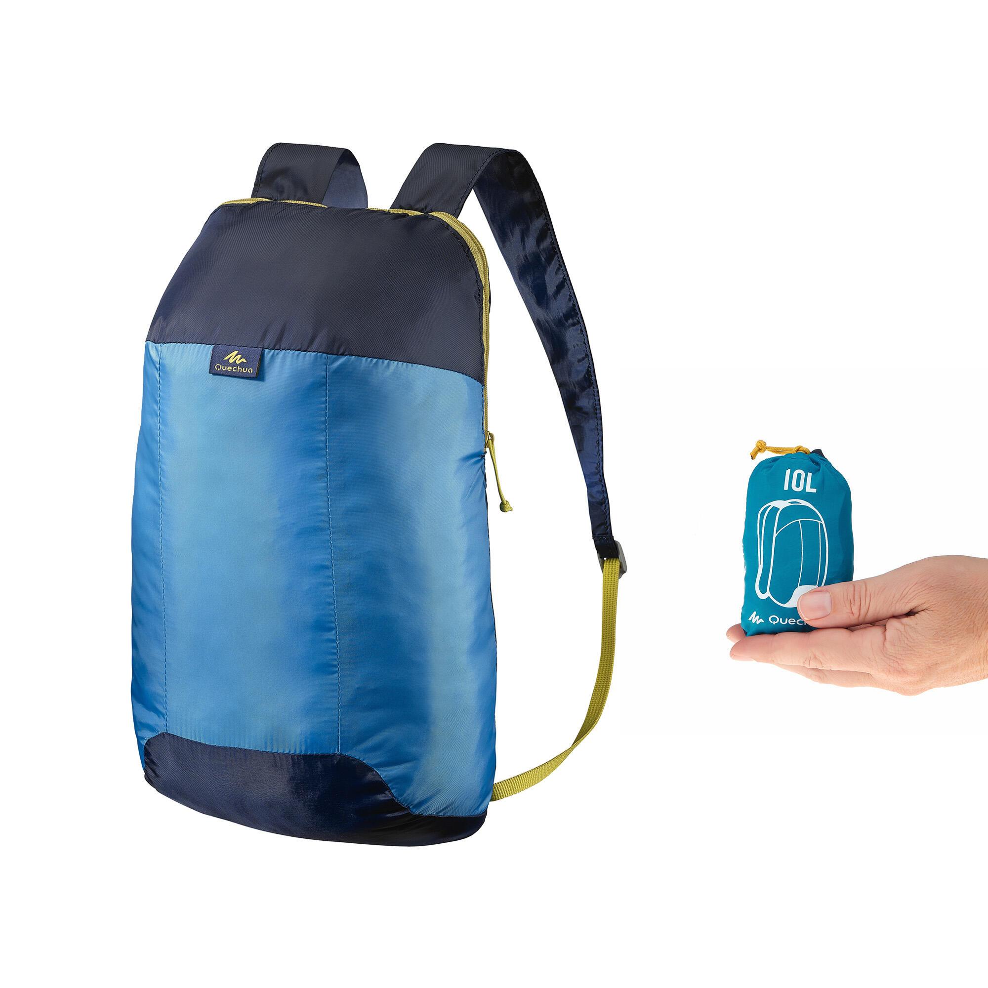 Mochila Arpenaz 10 ultra compacta y ultra ligera azul