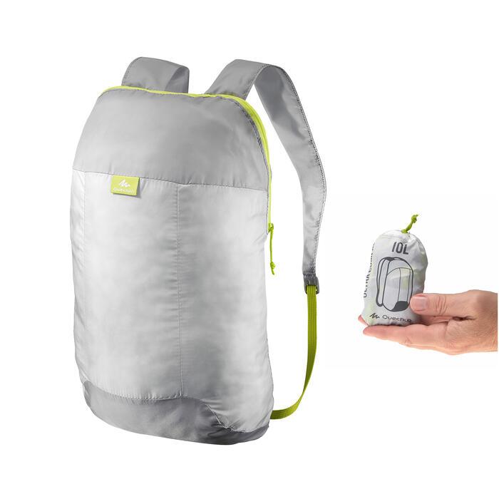 Sac à dos d'appoint ultra compact 10 litres gris