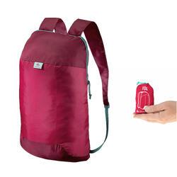 Mochila de Montaña y Trekking Viaje Travel Ultra Compacta 10 Litros Rosa