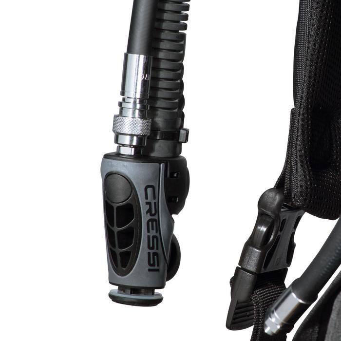 Gilet stabilisateur de voyage plongée bouteille Ultralight noir - 1161588