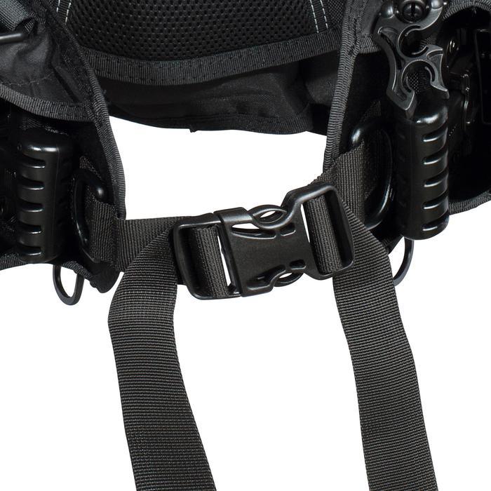 Gilet stabilisateur de voyage plongée bouteille Ultralight noir - 1161601