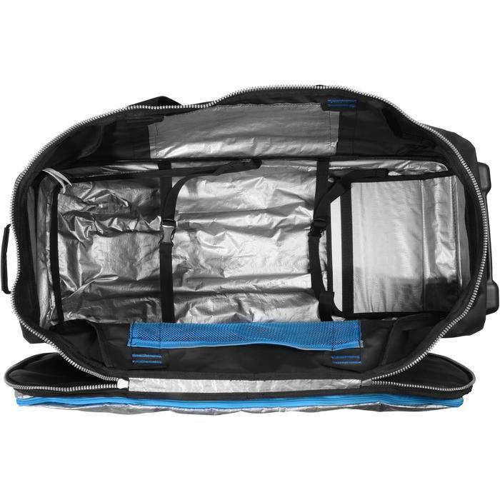 Sac de voyage de plongée sous-marine bouteille coque rigide SCD 120 L noir/bleu - 1161603
