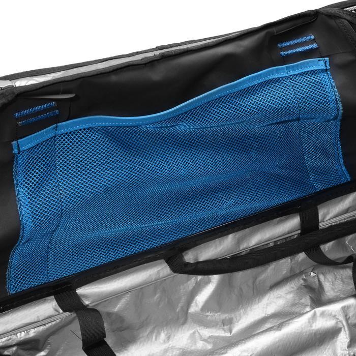 Sac de voyage de plongée sous-marine bouteille coque rigide SCD 120 L noir/bleu - 1161607