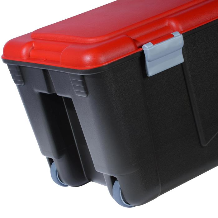 Transportbox Discover voor diepzeeduiken 80 l zwart/rood