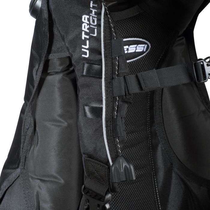 Gilet stabilisateur de voyage plongée bouteille Ultralight noir - 1161664