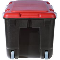 Duikkist 80 l zwart/rood