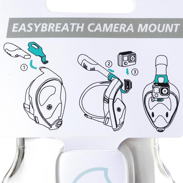 Fijación cámara para máscara de snorkeling Easybreath transparente sin tuerca.