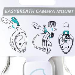Fixation caméra pour le masque de snorkeling Easybreath transparent sans écrou.