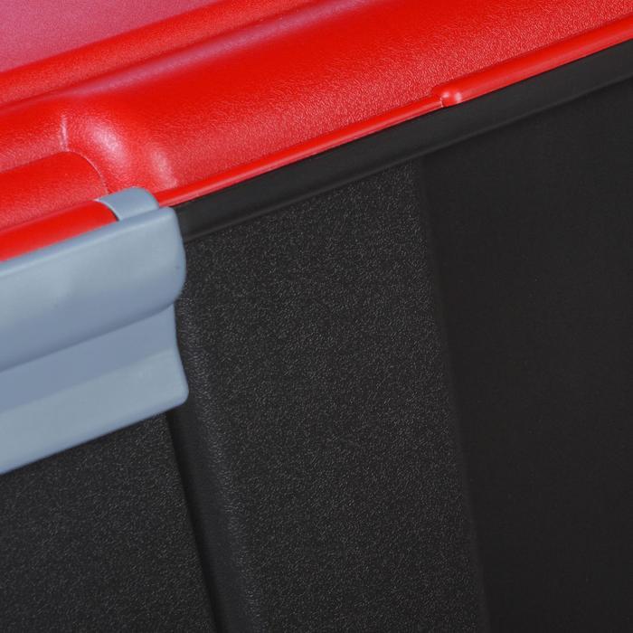 Malle de transport de plongée Discover 80 L noir/rouge - 1161723