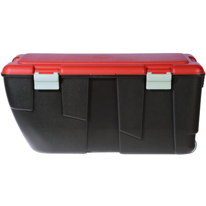 Malle de transport de plongée Discover 80 L noir/rouge - 1161742