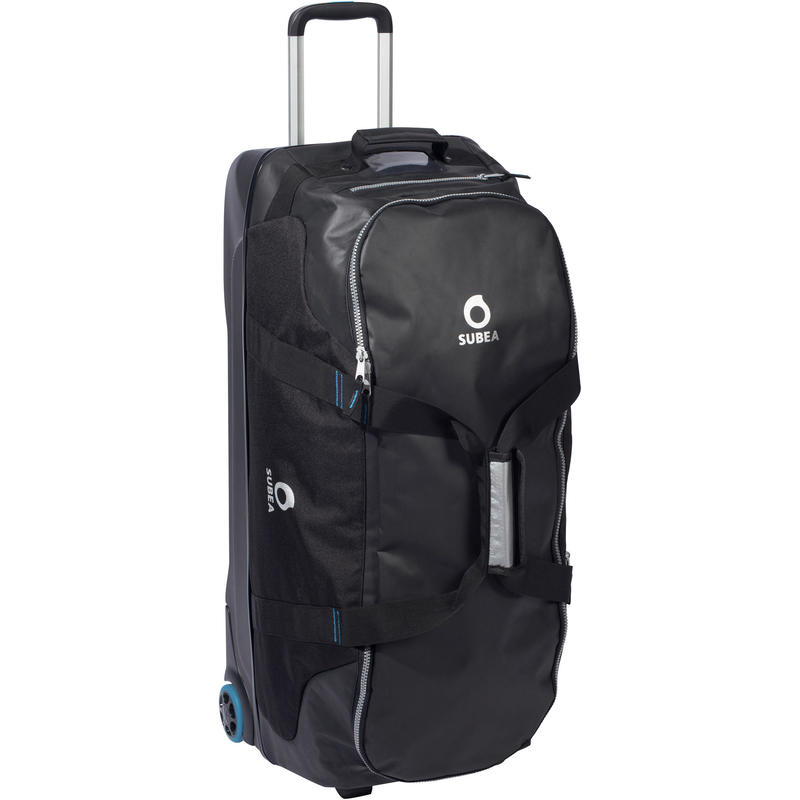 SCD 90 L SCUBA diving travel bag with rigid shell and wheels black/blue