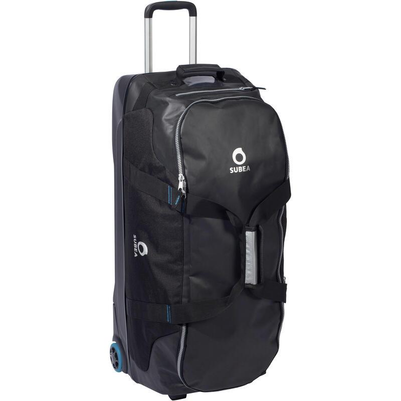 Scuba Diving Travel Bag 90L - Black