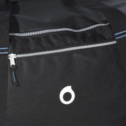 水肺潛水旅行袋(硬殼、附輪)SCD 90 L-黑色/藍色