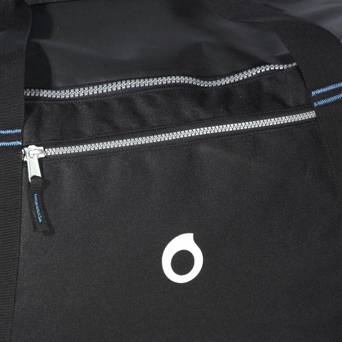Sac de voyage de plongée à roulettes coque rigide SCD 90 L trolley noir/bleu